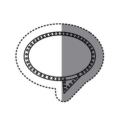 monochrome sticker of oval speech with tail and vector image vector image