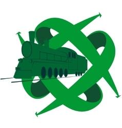 Old locomotive-3 vector image vector image