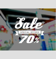 sale special offer on blurry vector image