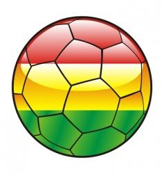 bolivia flag on soccer ball vector image