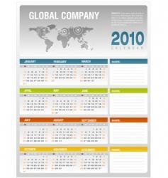 calendar 2010 vector image vector image