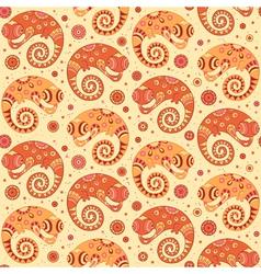 Chameleons decorative seamless pattern vector image vector image