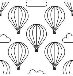 Dirigible and hot air balloons airship vector image