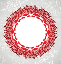 lace and snowflakes vector image