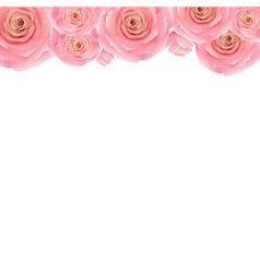 Pastel Pink Rose Border vector image