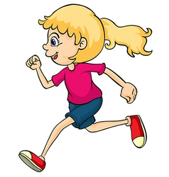 A running girl vector image