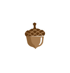 Acorn fruit seed nut logo vector