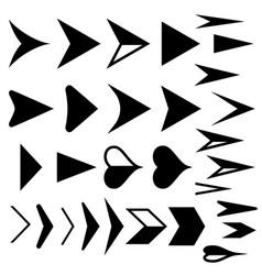 arrow icons set of black arrows vector image