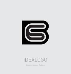 b and 6 initial logo b6 initial monogram logotype vector image