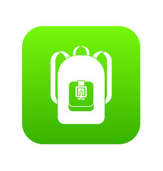 backpack icon digital green vector image