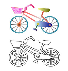 Bicycles on a white background vector