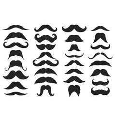 black moustaches mustache silhouettes hipster vector image
