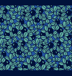 Blueberry seamless hand drawn pattern vector