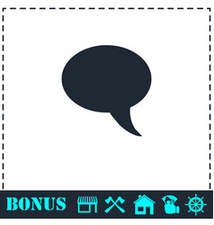bubble icon flat vector image