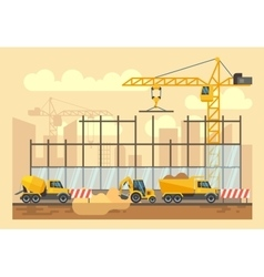Building construction process engineering tools vector image