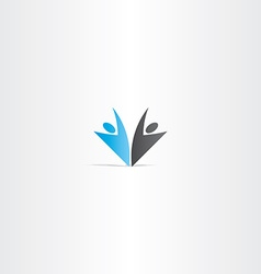 Business people blue black logo vector