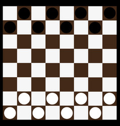 chessboard and checkerschessboard vector image