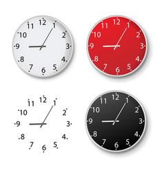 clock set isolated isolated white background vector image