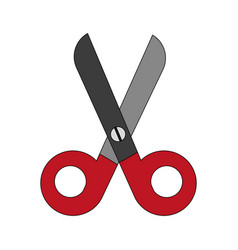 colorful scissors cartoon vector image