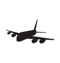 Commercial Jet Plane Airline Silhouette vector