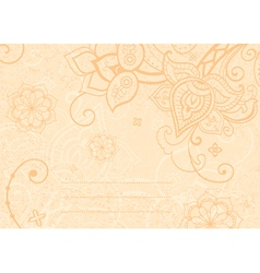 decorative indian style vector image