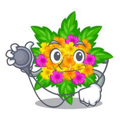 Doctor lantana flowers in the mascot pots vector