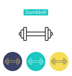 dumbbell icon isolated on white background vector image