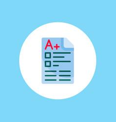 exam icon sign symbol vector image