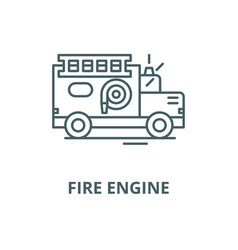 fire engine line icon linear concept vector image