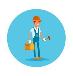 flat icon a carpenter vector image