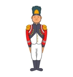 French Army soldier in uniform icon cartoon style vector