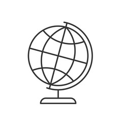 Globe on a stand linear icon vector