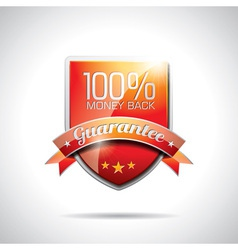 Guarantee labels vector image