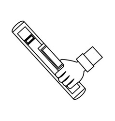 hand with level vector image