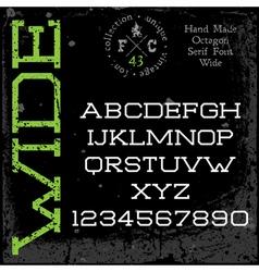 Handmade retro font Slab serif vector image