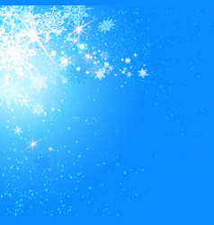 holiday card with snowflakes vector image