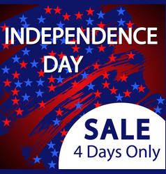 independence day sale banner template design vector image