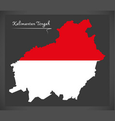 kalimantan tengah indonesia map with indonesian vector image
