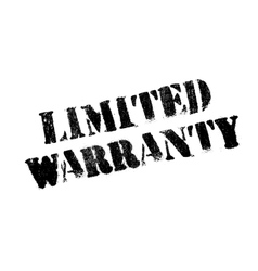 Limited Warranty rubber stamp vector