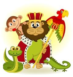 lion king animal vector image