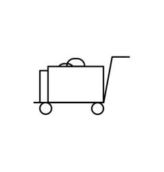 luggage icon vector image