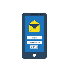 mail client on the smartphone screen vector image