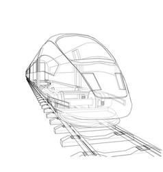 Modern speed train concept vector