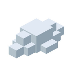 Module brick icon lego piece of puzzle icon vector
