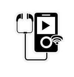 Mp3 player and wifi signal icon vector