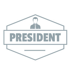 President logo simple gray style vector