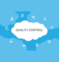 Quality control infographic cloud design template vector