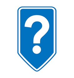 Question button vector image