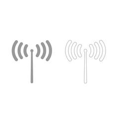 radio signal set icon vector image