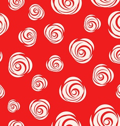 Red Looped Background with Roses vector